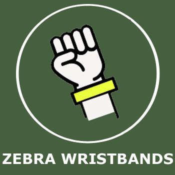 Zebra wristbands