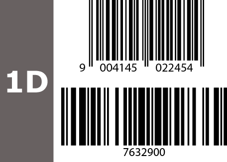 1D barcode example