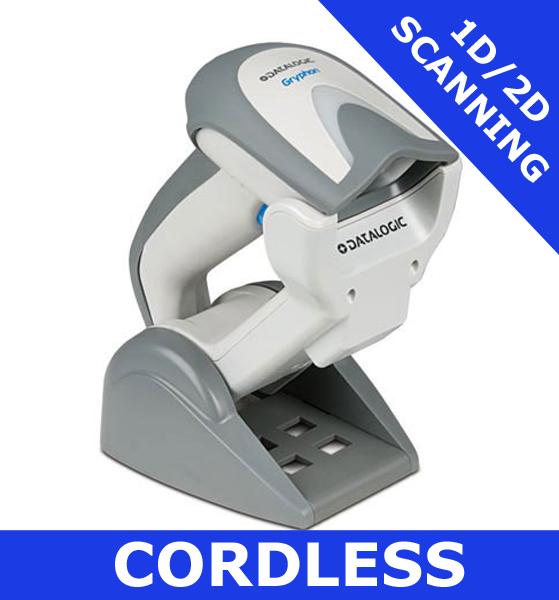 Datalogic Gryphon GBT4400 scanner / WHITE / Bluetooth cordless / USB cradle  (GBT4430-WH-BTK1)