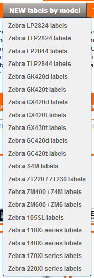 What sort of labels are compatible with my Zebra printer ?