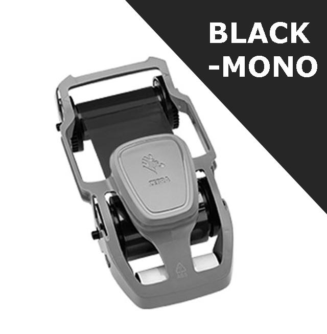 Zebra card ribbon - Mono BLACK (800300-303)