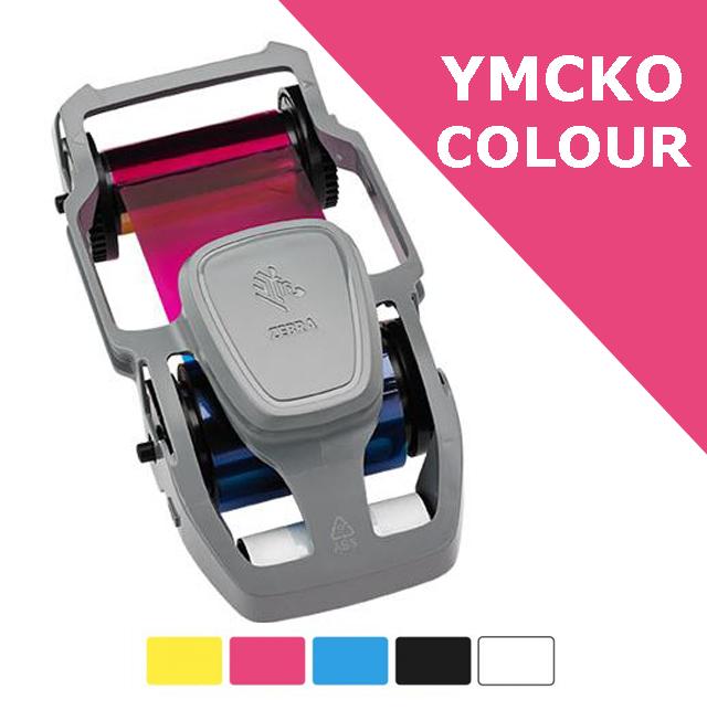 Zebra card ribbon - YMCKO Colour with overlay - full panel (800300-350EM)