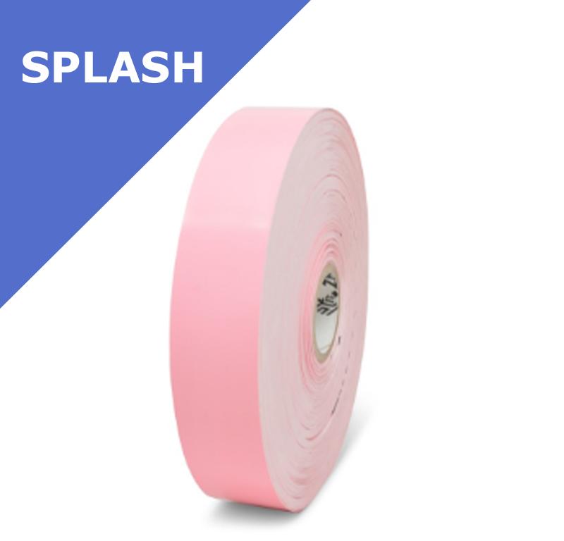 Zebra Z-Band Splash - PINK - wristbands - 25mm x 254mm (10012718-5)