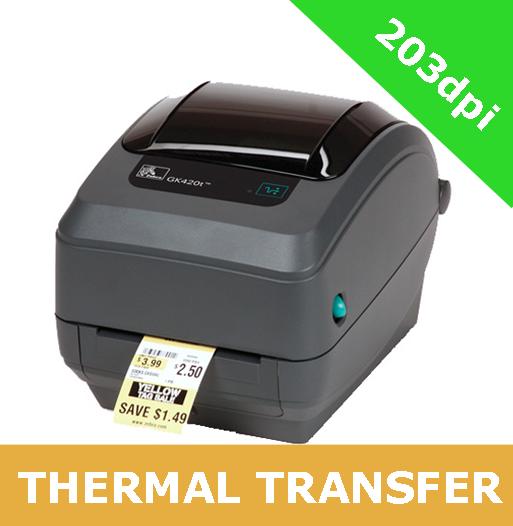 Zebra GK420t with USB interface and ZebraNet 10/100 Printserver  (GK42-102220-000)