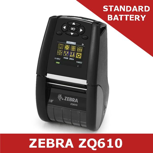 Zebra ZQ610 direct thermal mobile printer Dual 802 11AC and Bluetooth 4 1  (ZQ61-AUWAE10-00)