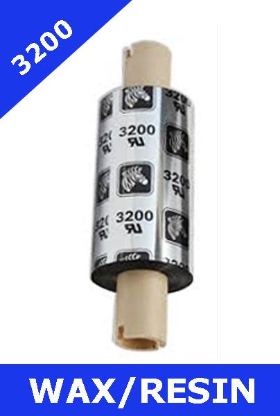 Zebra 3200 wax / resin - 64mm x 74m (03200GS06407)
