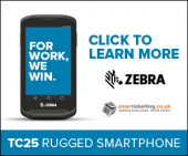 Click to learn more about the Zebra TC25 rugged smartphone