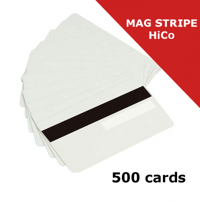 Zebra Premier (PVC) Blank White Card with magnetic stripe HiCo and signature panel (104523-118-01)