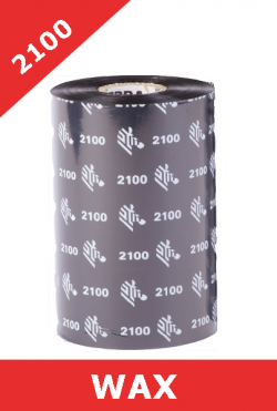 Zebra 2100 wax thermal transfer ribbons - 60mm x 450m (02100BK06045)