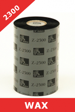 Zebra 2300 wax  thermal transfer ribbons - 110mm x 300m (02300BK11030)