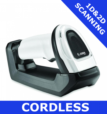 Zebra DS8178 1D/2D imager / WHITE / Bluetooth cordless with standard cradle (DS8178-SR6U2100S2W)