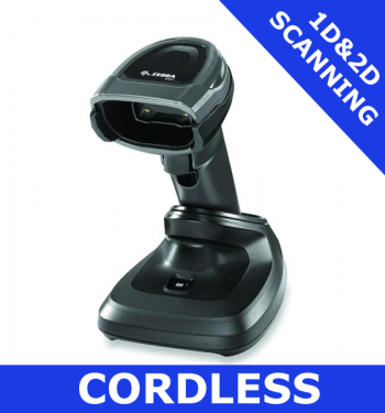 Zebra DS8178 1D/2D imager / BLACK / Bluetooth cordless with presentation cradle (DS8178-SR7U2100PFW)