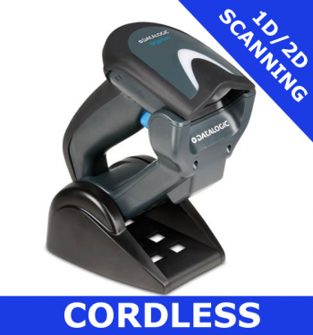 Datalogic Gryphon GBT4400 scanner / BLACK  / Bluetooth cordless / USB cradle (GBT4430-BK-BTK1)