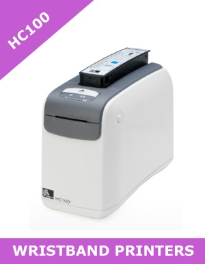 Zebra HC100 wristband printer with SERIAL, USB and 802.11g WIRELESS (HC100-300E-1200)