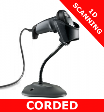 Zebra LI2208 scanner / BLACK / USB kit / with stand (LI2208-SR7U2100SGW)