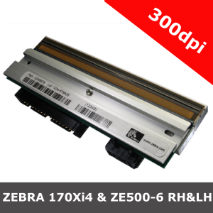 Zebra 170Xi4 & ZE500-6 RH & LH / 300dpi replacement printhead (P1004237)