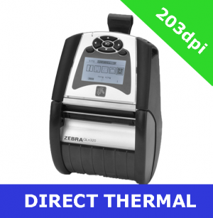 Zebra QLn320 direct thermal mobile printer / USB 2.0 and Serial (QN3-AU1AEM11-00)