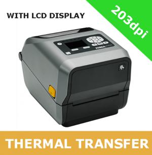 Zebra ZD620t 203dpi thermal transfer printer with BTLE, USB, USB Host, Serial and Ethernet - with LCD display (ZD62142-T0EF00EZ)