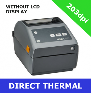 Zebra ZD621 203dpi direct thermal printer with USB, USB Host, Ethernet, Serial, WiFi (802.11ac) & BT4- without LCD display (ZD6A042-D0EL02EZ)