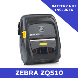 Zebra ZQ510 direct thermal mobile printer / does NOT include battery / USB & Bluetooth (ZQ51-AUE001E-00)