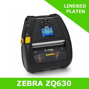 Zebra ZQ630 mobile printer with LINERED PLATEN - Dual 802.11AC and BT 4 interfaces (ZQ63-AUWAE11-00)