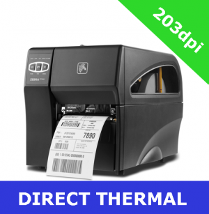 Zebra ZT220 (203dpi) DIRECT THERMAL PRINTER with SERIAL, USB and ZebraNet 10/100 PrintServer (ZT22042-D0E200FZ)