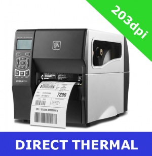 Zebra ZT230 (203dpi) DIRECT THERMAL PRINTER RS232, Serial, USB with PEEL OFF - NO liner take up (ZT23042-D1E000FZ)