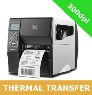 Zebra ZT230 (300dpi) THERMAL TRANSFER PRINTER with RS232, Serial, USB, Wireless 802.11 a/b/g/n interfaces with peel off / no liner take up (ZT23043-T1EC00FZ)