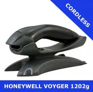 Honeywell Voyager 1202g scanner / BLACK / Bluetooth cordless / USB cradle (1202G-2USB-5)