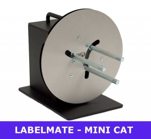 Labelmate MINI-CAT MC-11 low cost rewinder - adjustable core holder - 25mm to 101mm (LMR003)
