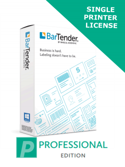 BarTender 2019 Professional Printer License (BTP-PRT) - ELECTRONIC DELIVERY -  requires Application License
