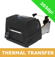 Citizen CL-S6621 203dpi thermal transfer printer with RS232 and USB interfaces and external roll holder (1000859)