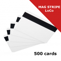 Zebra Premier (PVC) Blank White Card with magnetic stripe LoCo (104523-112)