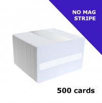 Zebra Premier (PVC) Blank White Card with signature panel (104523-118)