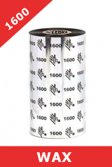Zebra 1600 wax thermal transfer ribbons - 60mm x 450m (01600BK06045)