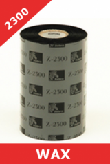 Zebra 2300 wax thermal transfer ribbons - 110mm x 450m (02300BK11045)