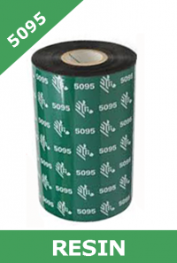 Zebra 5095 resin thermal transfer ribbons - 40mm x 450m (05095BK04045)
