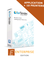 BarTender 2019 Enterprise Edition - Application License + 10 Printer Licenses (BTE-10) - ELECTRONIC DELIVERY