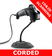 Zebra DS4600 1D/2D imager / BLACK / USB corded with stand (DS4608-SR7U2100SGW)