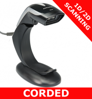 Datalogic Heron HD3400 scanner / BLACK / USB Kit / Autosense stand (HD3430-BKK1B)