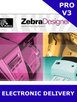 Zebra ZebraDesigner Pro V3 / Activation Key / Email Delivery (P1109127) *** EXCLUSIVELY FOR USE WITH ZEBRA PRINTERS ***
