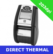 Zebra QLn220 direct thermal mobile printer / USB 2.0 and Serial (QN2-AU1AEM10-00)