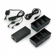 Two 3 slot battery chargers (charges 6 batteries) - ZQ600, QLn or ZQ500 - EU power cord included (SAC-MPP-6BCHEU1-01)