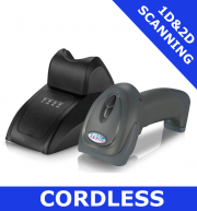 Syble XB-6266MBT Cordless BT Scanner Kit 1D/2D imager / BLACK / Bluetooth cordless with cradle (XB-6266MBT)