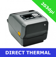 Zebra ZD620d 203dpi direct thermal printer with BTLE, USB, USB Host, Serial and Ethernet - with LCD display (ZD62142-D0EF00EZ)