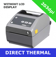 Zebra ZD620d 203dpi direct thermal printer with BTLE, USB, USB Host, Serial and Ethernet - without LCD display (ZD62042-D0EF00EZ)