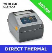 Zebra ZD621 203dpi direct thermal printer with USB, USB Host, Ethernet, Serial & BTLE5- with LCD display (ZD6A142-D0EF00EZ)