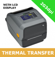 Zebra ZD621 203dpi thermal transfer printer with USB, USB Host, Ethernet, Serial and BTLE5 - with LCD display (ZD6A142-30EF00EZ)