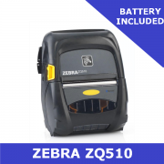 Zebra ZQ510 direct thermal mobile printer / Includes battery / USB & Bluetooth (ZQ51-AUE000E-00)
