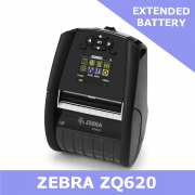 Zebra ZQ620 direct thermal mobile printer / Extended battery / Dual 802.11AC and Bluetooth 4.1 (ZQ62-AUWAEC1-00)